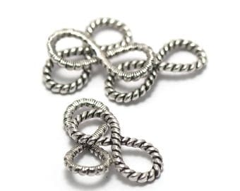 """8 connectors """"Infinity pattern"""" 29 x 13 mm"""