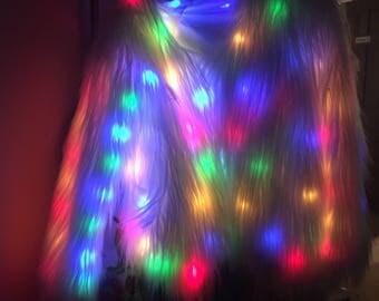 LED Furry Coat
