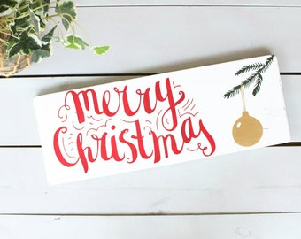 Merry Christmas Sign, Merry Christmas Wood Sign, Merry Christmas Wall Art, Christmas Decor, Christmas Signs, Rustic Christmas Decor, Xmas