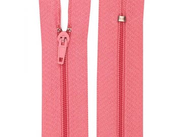 Pink nylon closure size 15 cm