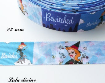 Effect scene Bewitched 25 mm grosgrain Ribbon sold by 50 cm