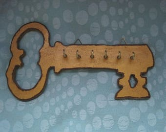 Large key shaped Keyring