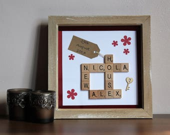 Personalised New House Scrabble Frame