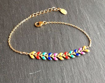 "fine gold plated multicolor bracelet ""Rainbow"""