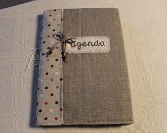Agenda gray linen fabric