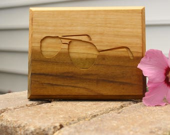 Modern, Wood wall art, Sunglasses, Plaque, gift, wedding gift, housewarming, natural