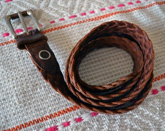 vintage leather levis woven belt