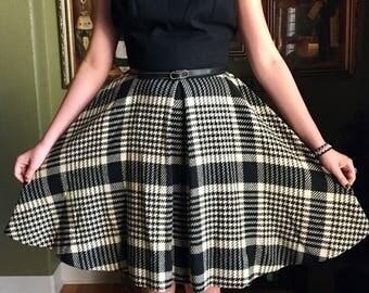 Vintage Dress Black Plaid by Petti Glen