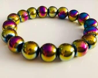 Natural Hematite bracelet, Energetical Bracelet, Gemstones Bracelet, womens bracelet, Handmade bracelet