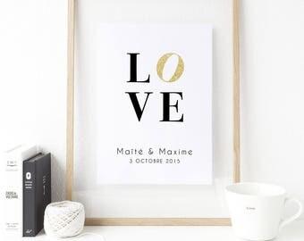Wedding poster - Love & names