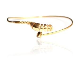 Gold plated silver bangle bracelet