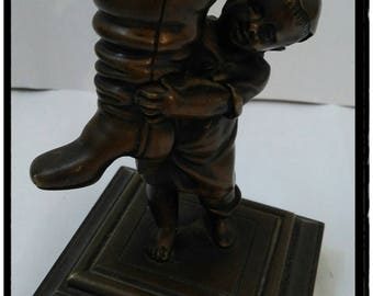 Child bronze sculpture