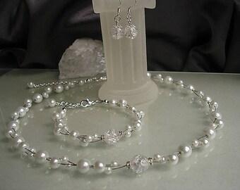 Brautschmuck set perlen  Schmucksets für Hochzeiten | Etsy DE