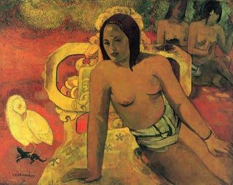 SET of TABLE ORIGINAL semi-rigid AESTHETIC WASHABLE and durable - Painters Nabis - Paul Gauguin - Vairumati - classic