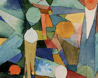 SET of TABLE semi-rigid ORIGINAL AESTHETIC WASHABLE and durable - Abstract artists - Paul Klee - shapes and colors up.