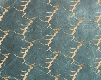 PLACEMAT DESIGN AESTHETIC, WASHABLE and durable - Golden waves.