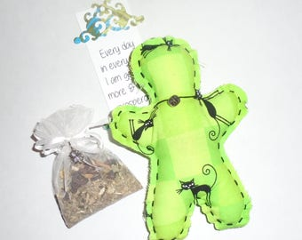 Prosperity Abundance Wish Money Intention Doll voodoo helper affirmation