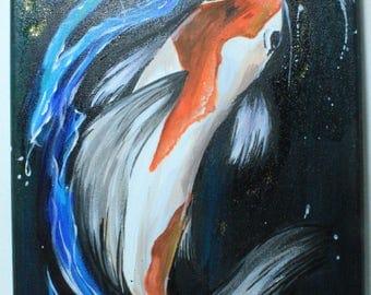 Koi fish with water detailing