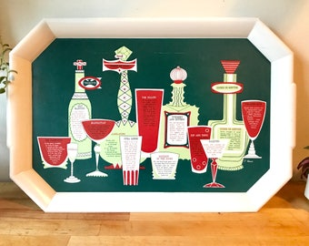 Vintage Waverly Melamine Cocktail Tray circa 1950's