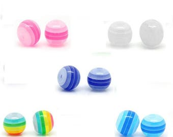 multi color acrylic 8mm 10 beads