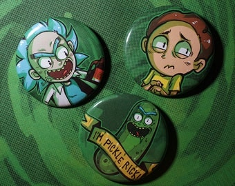 Rick and Morty 2.25 Buttons