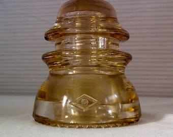 Vintage Collectible Clear Glass Electrical Insulator