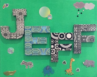 Decoration of the jungle themed nursery