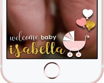 Baby Shower Snapchat GeoFilter Snapchat Custom Filter