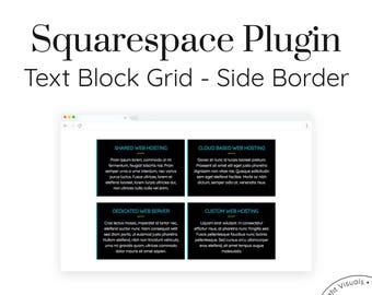 Text Block Grid - Side Border | Squarespace Plugins, Custom Blocks, Addons, Custom Code