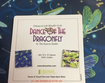 "Dance of the Dragonfly 10"" x 10"" pieces"