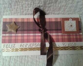 Pouch Gift birthday men 90 years