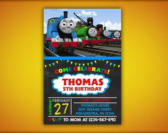 Thomas The Train Birthday Invitations, Thomas The Train Birthday, Thomas The Train, Thomas and Friends Birthday, Thomas Birthday Invitation