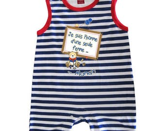 "dress jumpsuit baby humorous message""I'm the man of a woman"""
