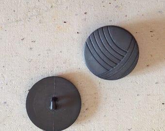 Pair of original grey buttons!