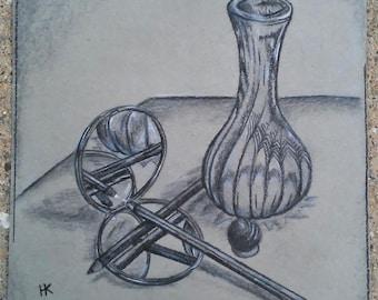 Reflection Still Life (2) - Original Drawing