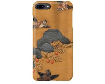 "iPhone case ""Hara Yoyusai: Nanten ni Suzume""  iPhone5 iPhoneSE iPhone6 iPhone7 iPhone8"