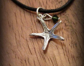 925 sterling silver sea star necklace