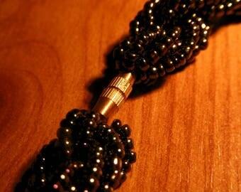 Beautiful Deep Blue Beaded Necklace - Handmade in Kenya