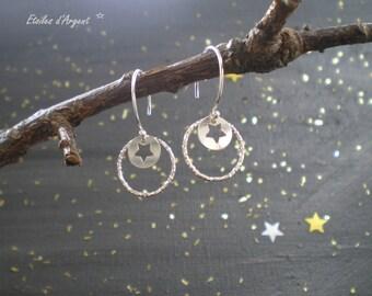 """Princess Ring"" Star earrings"