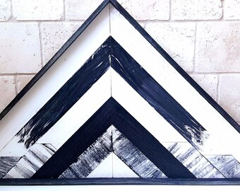 Geometric Mountains Reclaimed Wood Wall Art