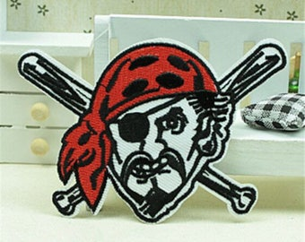 patch applique pirate embroidery, sewing pattern fusible