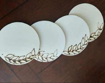 Olive Leaf Coasters