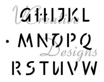 Freehand Upper Alphabet stencil