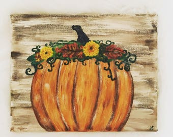 Fall Pumpkin- Made to order-custom art