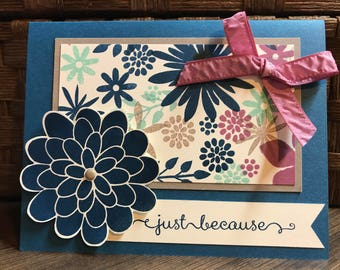 DIY Handmade Card Kit with Just Because Sentiment