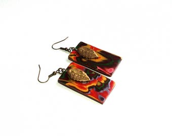 VINTAGE RECTANGLE EARRINGS