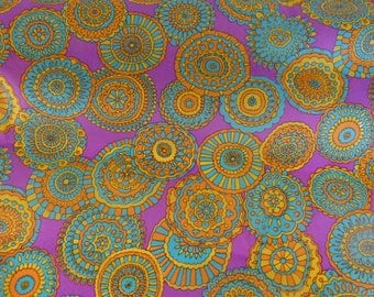 Colorful flower deco fabric