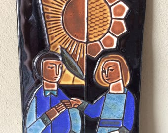 Henk Potters, original ceramic tile, vintage '60s