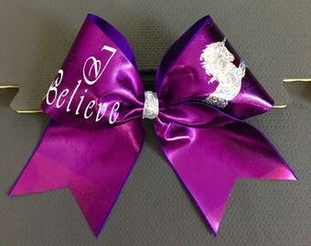Unicorn Cheer Bow - Cheerleading Gifts - Cheer Bows