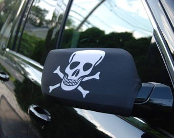 Skull and Crossbones Side Mirror Cover